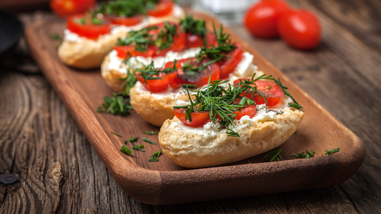 Theia Bruschetta with Mediterranean Herb