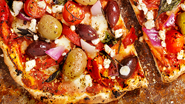 Theia Natural Spreadable Feta Cheese Greek Garlic Basil Pizza